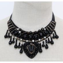 Damen Perlen Kristall Mode Charme Chunky Bib Kostüm Halskette (JE0023)