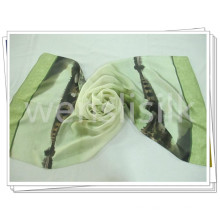 Square Silk Scarf Fabric with Printing Finish