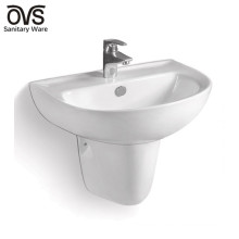 fabricante de porcelana lavabo de lavabo de lavabo montado en la pared