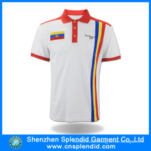2016 New Product Sport Polo T-Shirt Fashion White with Red Clothes