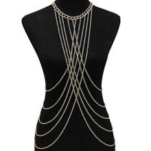 Gold Plated Body Jewelry Chain, Fashionable, Handmade, OEM Orders are WelcomeNew