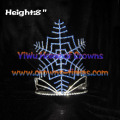 8inch Height Crystal Snowflake Crowns Christmas Crowns