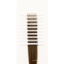 Wholesale High Quality Brown Color Synthetic Tube Hair Extension for Densification
