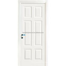 6 panel blanco pintado MDF Interior puertas de oscilación