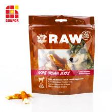 Bolsa de papel de aluminio de China para envasado de alimentos para perros con ventana