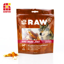 China aluminum foil bag for dog food packaging with window