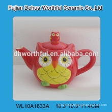 Factory direct sale customize ceramic teapot bulk in owl shape