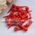 Hanging Hole Rivet Acrylic Solid Beads For Decoration