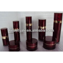 Straight round acrylic lotion bottles for cosmetic packaging