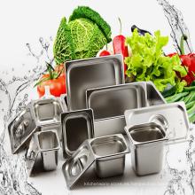 Sistema de cena del acero inoxidable del hotel y del restaurante Cacerola profunda de Gastronorm del envase del alimento