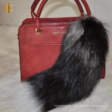 Trend Fashion Fox Tail Fur Accessoire Porte-clés Sac Pendentif Porte-clés en fourrure