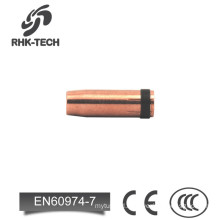 mig welding copper coated nozzle for D501 torch