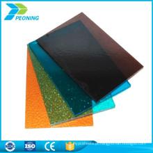 Certificado ISO autenticar a folha sólida de policarbonato lexan twinwall
