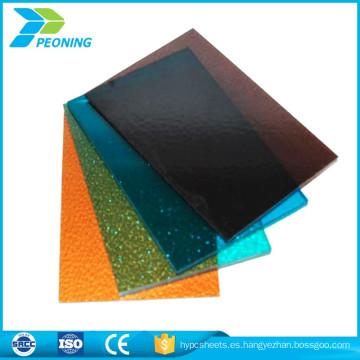 Certificado ISO autenticar hoja sólida de policarbonato lexan twinwall