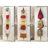 2 x Over Door Straps Hanger Adjustable Hat Bag Coat Rack Organizer 8 Hooks