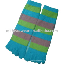 thick knitted terry towelling five-toe sock
