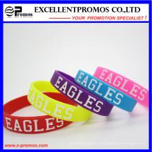 Bracelet de caoutchouc de silicone personnalisé personnalisé (EP-W58406)