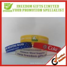 Regalos de promoción Precio barato Logotipo impreso Pulsera de goma