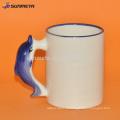 Taza blanca animal de la sublimación para el anuncio y el regalo del pomotion con precio competitivo