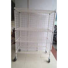 NSF Powder Coating Metal Wire Security Cart Factory