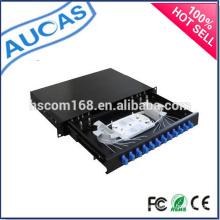 Panel de conexiones de fibra óptica / caja de terminales de fibra óptica / 1U Panel de conexión de fibra de 24 puertos de 19 pulgadas