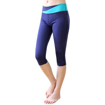 Высокое качество женщин Йога брюки Капри для спорта