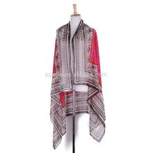 Moda de señoras tribales de poliéster de impresión sarong pareo