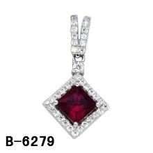 Moda jóias micro configuração Lady′s pingente com rubi.
