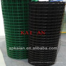 Hebei anping kaian 1/2 pulgada de pvc recubierto o gi soldado malla de alambre