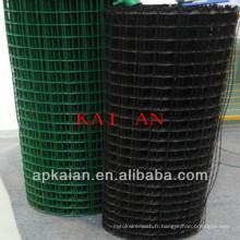 Hebei anping kaian 1/2 pouces pvc revêtu ou gi soudé treillis métallique