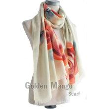 Мода печатные 100% шерстяной платок