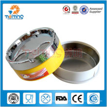 Cendrier métallique coloré de couverture fermée / cendrier en acier / cendrier de cigare