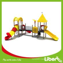 Style de style classique Jardin d'enfants extérieur à aire de jeux avec toboggans, équipement de jeux pour enfants à l'extérieur