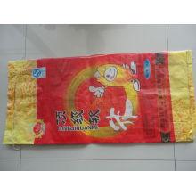 Bopp film sac de riz 25kg pp à vendre avec pli M