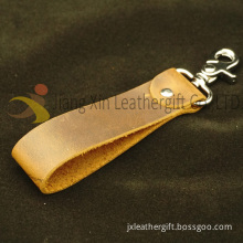Custom Leather Strap Key Chain DIY Cowhide Key Ring for Car