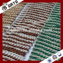 Depósito do produto em estoque de 2016 para o têxtil doméstico da franja de corte de lingotes de duas cores