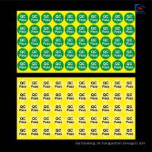 Kundenspezifisches gedrucktes verschieden geformtes wasserdichtes Aufkleber-Etikett für Mobiltelefon