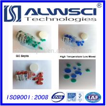 Ökonomischer Typ 11 * 3mm Blau Hochtemperatur GC Septa zum Testen
