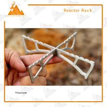 L'alcool brûleur support anti-dérapant Portable pliante Titanium Rack