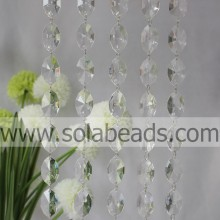 For Tree 12*28*47mm  Crystal Beading Curtain Trimming