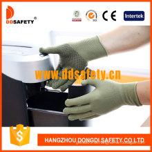 Bamboo Green Nylon / Polyester Handschuhe mit schwarzen PVC-Punkten (DKP414)