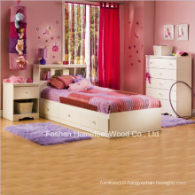 Kids White Wood Captain′s 3 Piece Bedroom Set