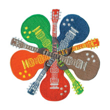Hippie Guitar Music Lovers Bordir Patch