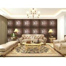 Luxury Modern 3D Leather Wall Cladding TV Background Wallpa