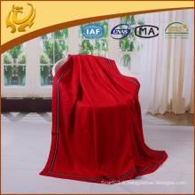 Cachemire de qualité supérieure qui se sent Super doux brossé plaine de couverture en soie fabriqué en Chine