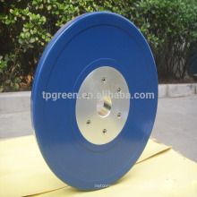 colored solid rubber power weight lifting bumper plates for sale