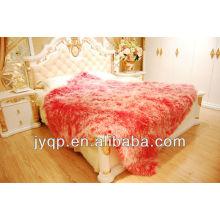 Mongolian sheep fur blanket