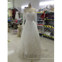 Новое Прибытие Европейский Дизайн Вышитые Свадебные Платья