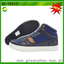 Sapatos de conforto de calçado de corte casual de corte alto para homens