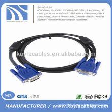 VGA-Stecker auf weiblichen PC-Monitor LCD-Kabel 5 FT